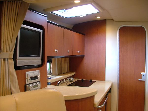 Galley and flatscreen