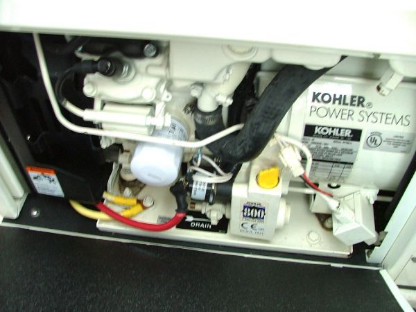 Kohler generator with sound shield removed
