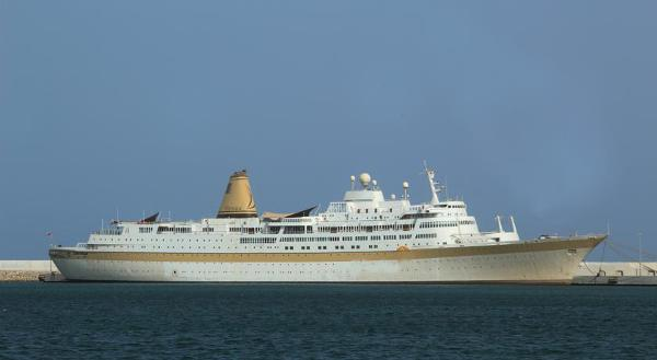 Famous Cruise Ship Converted to Floating Hotel -   Stock No. S2100