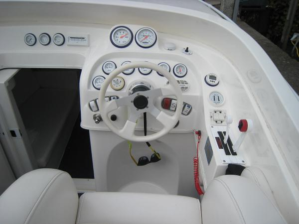 Helm with performance controls and guages