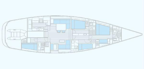 Nautor Swan 66 S Interior Plan