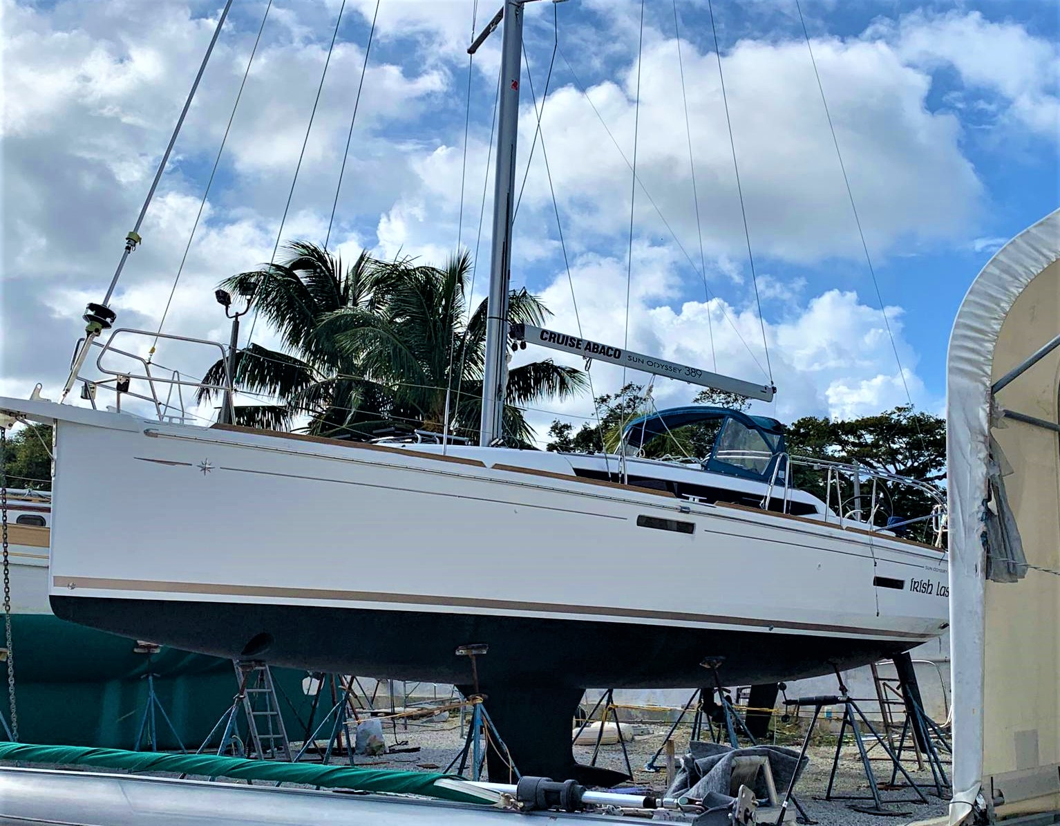 Jeanneau Sun Odyssey 389 Irish Lass Rig Installed! (Current Photo)