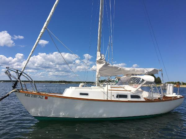 Cape Dory 25 At Mooring