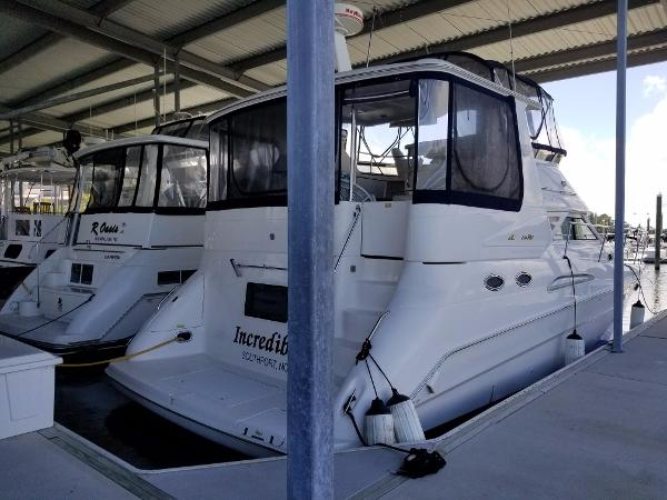 Sea Ray 420 Aft Cabin At her home dock