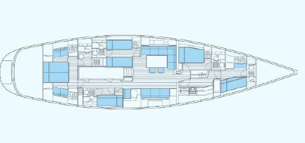 Nautor Swan 75 FD Interior Plan