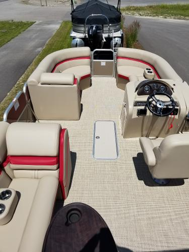 2018 24 Foot South Bay Pontoon Boat For Sale at Captain's Marine in Kalispell Montana 150 HP Mercury Motor