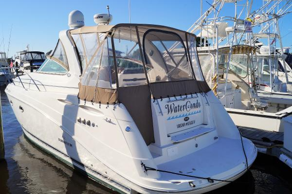 Rinker 350 Express Cruiser 2008 RINKER 350 EXPRESS CRUISER PROFILE AT THE DOCK