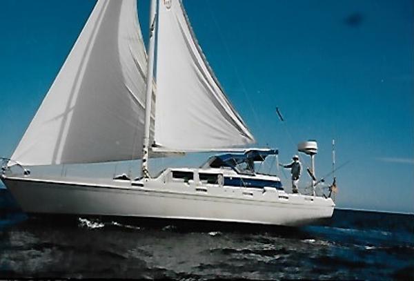 Columbia 45 Under Sail