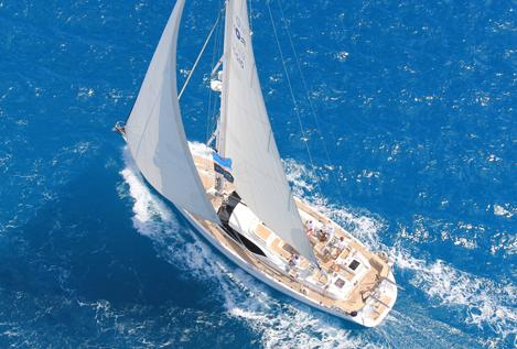Oyster 655 Under sail