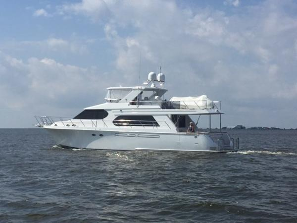 Ocean Alexander Motor Yacht Completely painted Saving Grace
