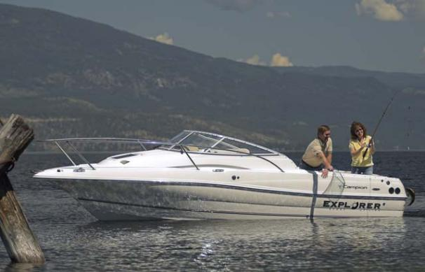 Campion Explorer 602 Sport Cabin Sterndrive model shown.