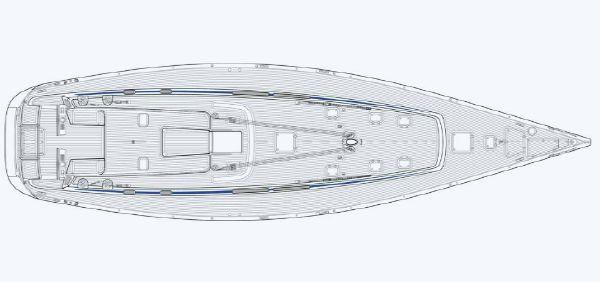 Nautor Swan 66 FD Deck Plan