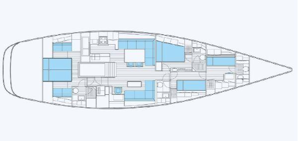 Nautor Swan 66 FD Interior Plan