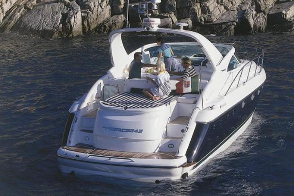 Fairline Targa 43 Transom at rest