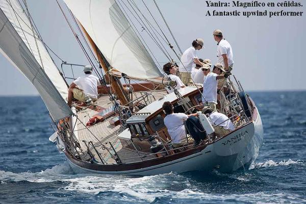 Classic Fast wooden classic cutter Yanira Fast Classic Cutter sailing