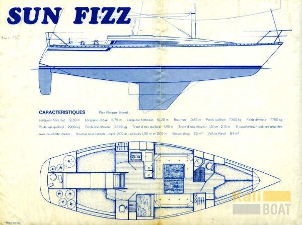 Jeanneau Sun Fizz SunFizz-Plan