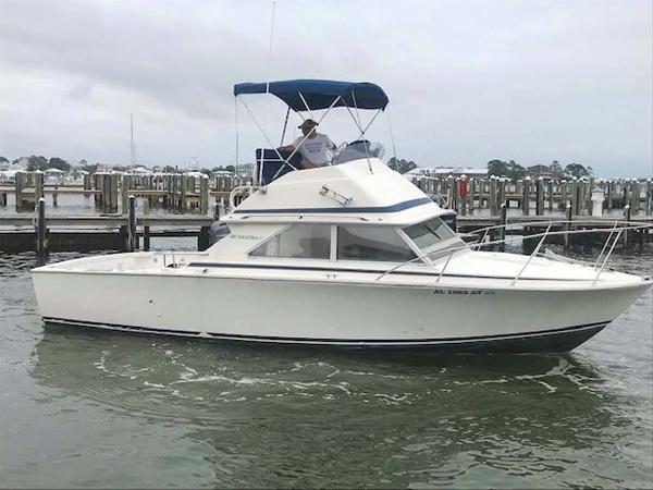 Bertram 28 Flybridge CRUISER Profile Starboard