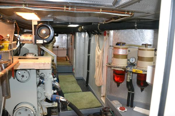 Engine room looking aft