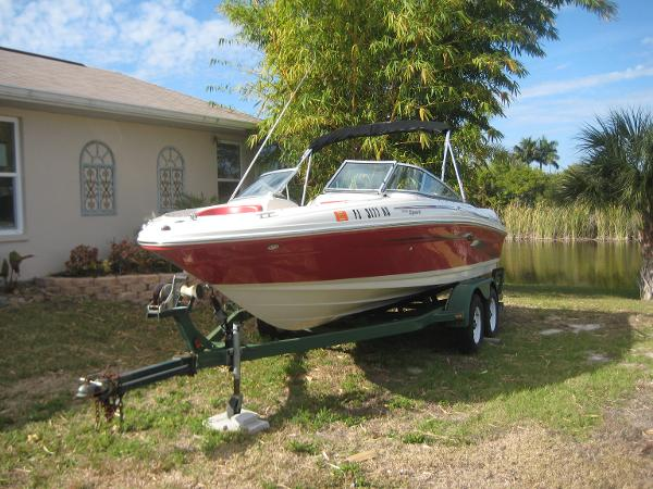 Sea Ray 205 Sport On Trailer Port Side Forward