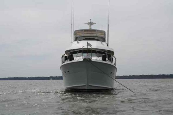 70' Hatteras Motoryacht forward profile