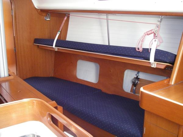J/109 Starboard saloon (seat back up)