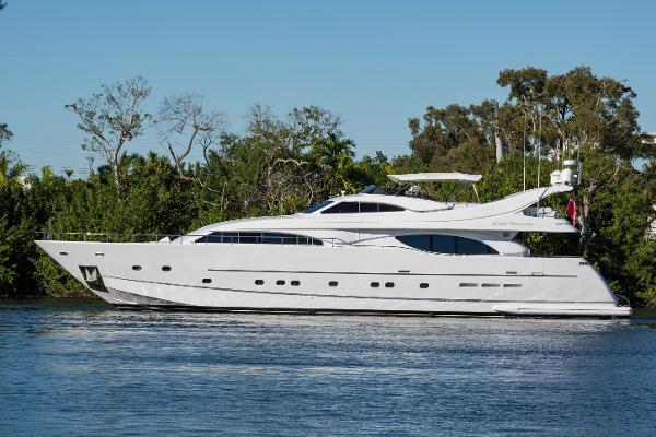 """Ferretti Yachts Custom Line 94 """"Lady Breanna"""" 2001 94' Ferretti Custom Line Profile"""