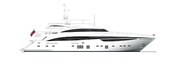 Princess M Class 40M Profile White Hull With Hardtop