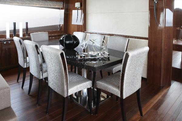 Princess Flybridge 98 Motor Yacht Dining Area
