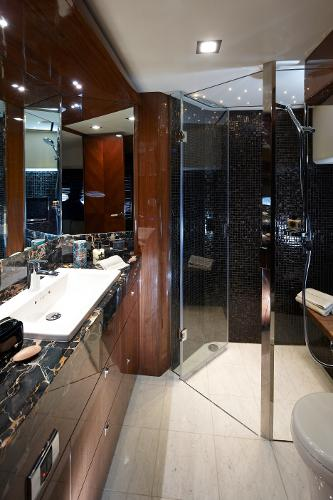 Princess Flybridge 98 Motor Yacht Forward Bathroom
