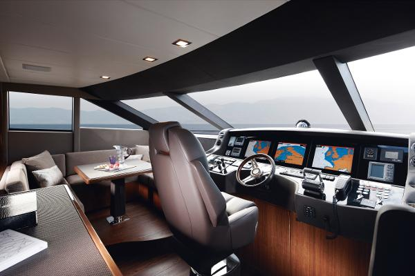 Princess Flybridge 98 Motor Yacht Helm