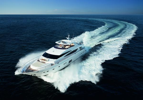 Princess Flybridge 98 Motor Yacht Running Shot