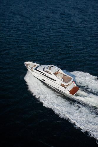 Princess Flybridge 98 Motor Yacht View From Above