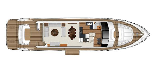 Princess Flybridge 88 Motor Yacht Main Deck Layout