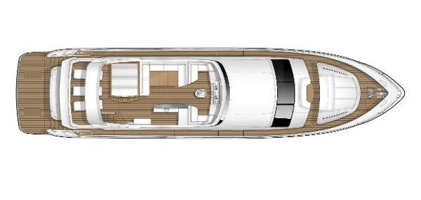 Princess Flybridge 88 Motor Yacht Flybridge Layout