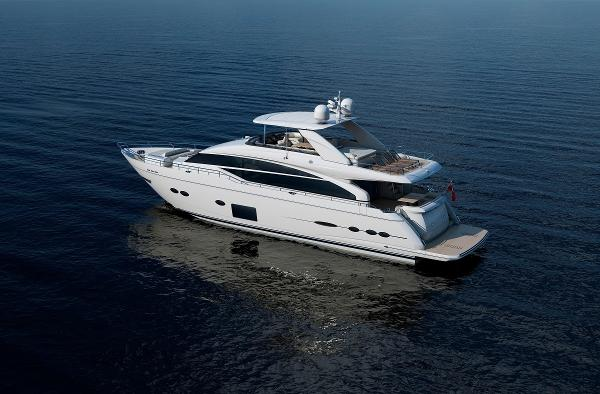 Princess Flybridge 88 Motor Yacht Side View