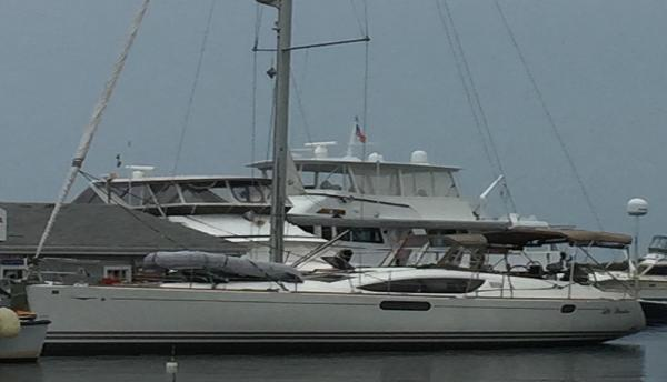 Jeanneau 50 DS At the Dock While on a Cruise