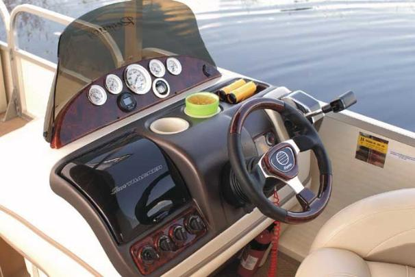 The console features full instrumentation,  tilt steering and simulated burlwood accents.
