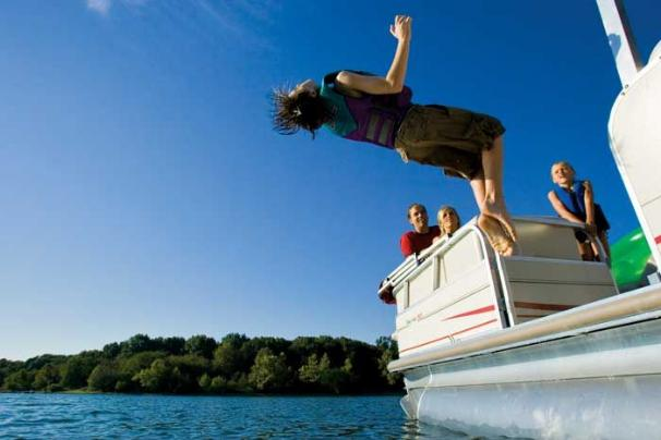 Life's a party when you own a Party Hut pontoon.