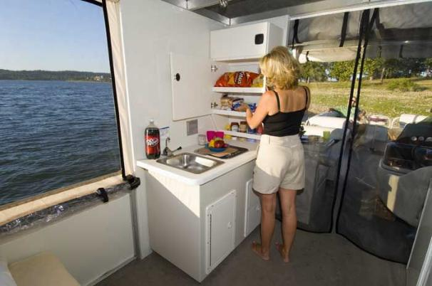 Easily prepare delicious snacks and meals in the full-service galley.