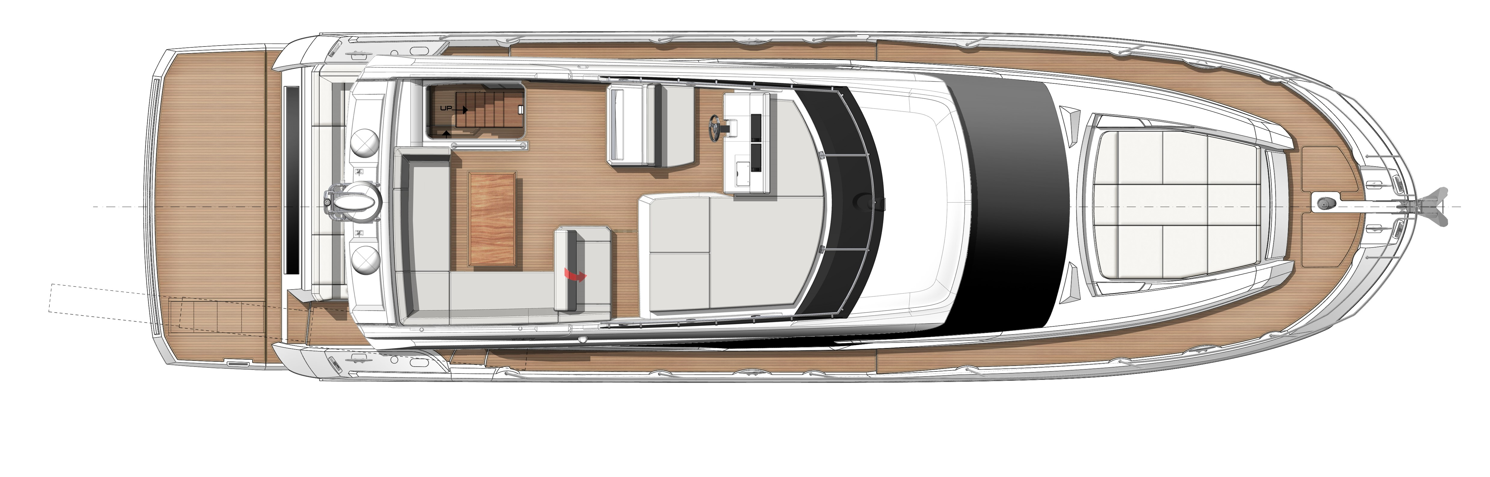 Prestige 520 For sale - Prestige 520 layout flybridge