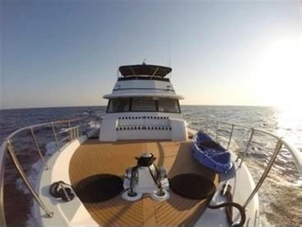 Hatteras 80 Cockpit Motor Yacht Bow looking aft