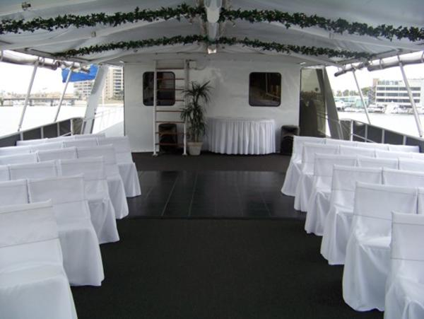 Wedding Setup on Deck View 1
