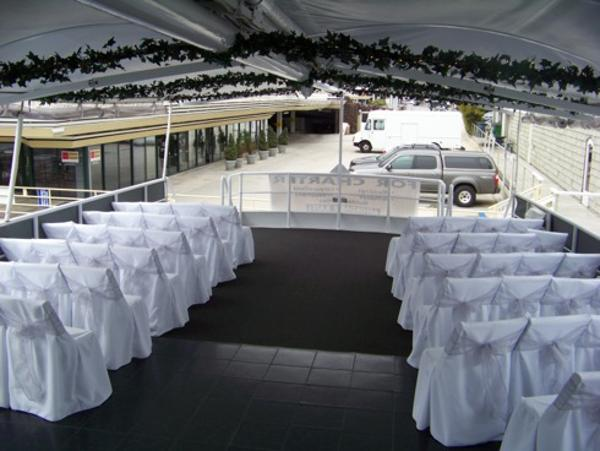 Wedding Setup on Deck View 2