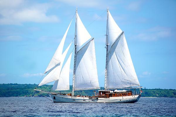 48M Classic Schooner 2009 Under Sail