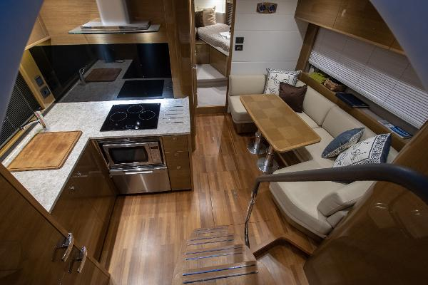 Princess V48 Open - Saloon and Galley