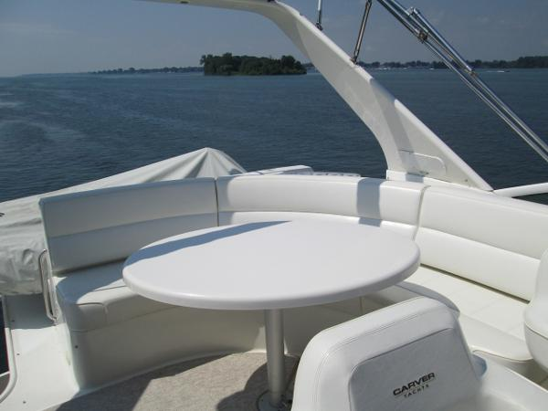 Flybridge Bench Seating and Table