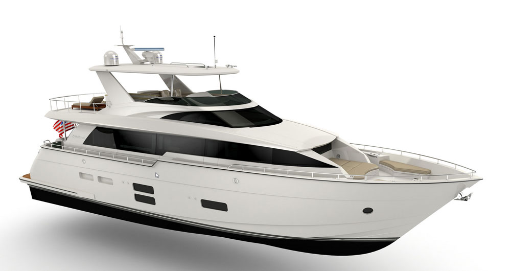 Hatteras 70 MY: First Look Video