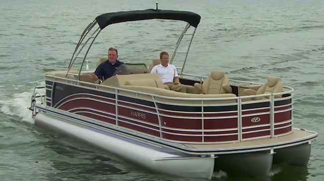 Harris Solstice 240: Video Pontoon Boat Review