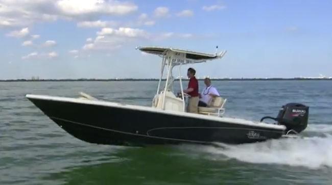 Carolina Skiff Sea Chaser 23 LX Bay Runner Video: First Look