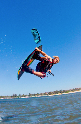 Top watersports: kite surfing
